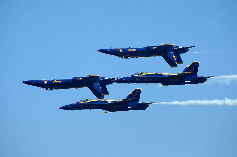 The Blue Angels at Seafair over Lake Washington